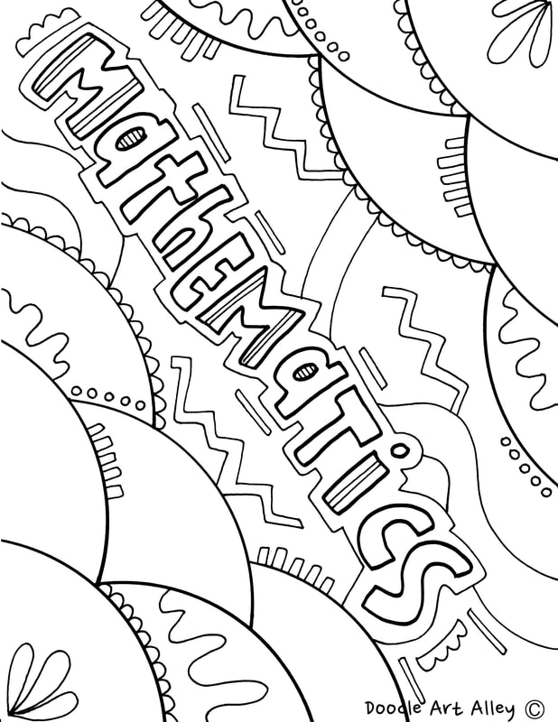 mathematics coloring pages