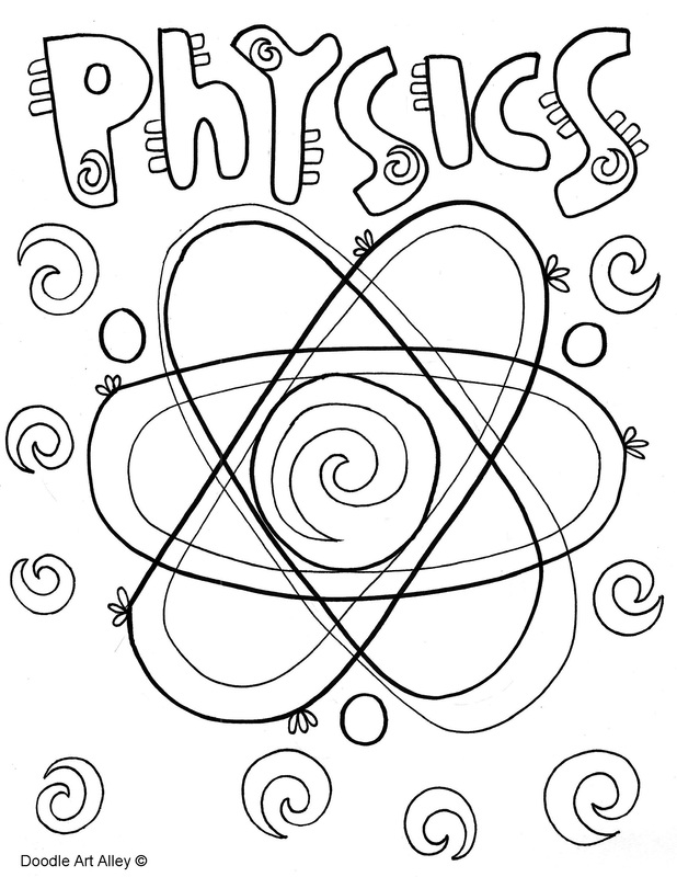 Physics coloring page
