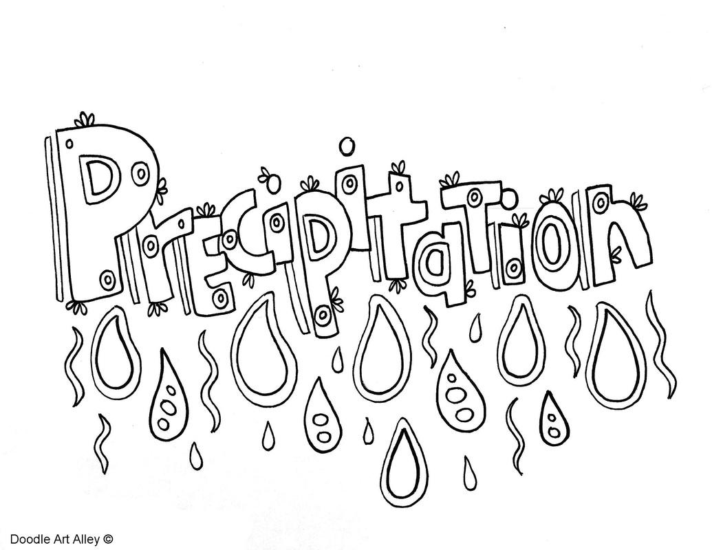 Precipitation Coloring Page
