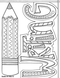 Language Arts Coloring Pages and Printables Classroom Doodles