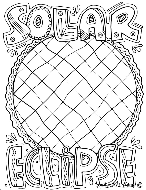 Solar system coloring pages printables classroom doodles for Solar eclipse coloring page