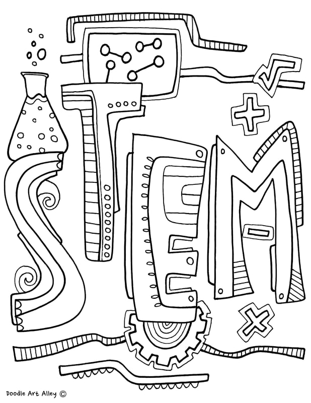 stem coloring pages Subject Cover Pages Coloring Pages   Classroom Doodles stem coloring pages