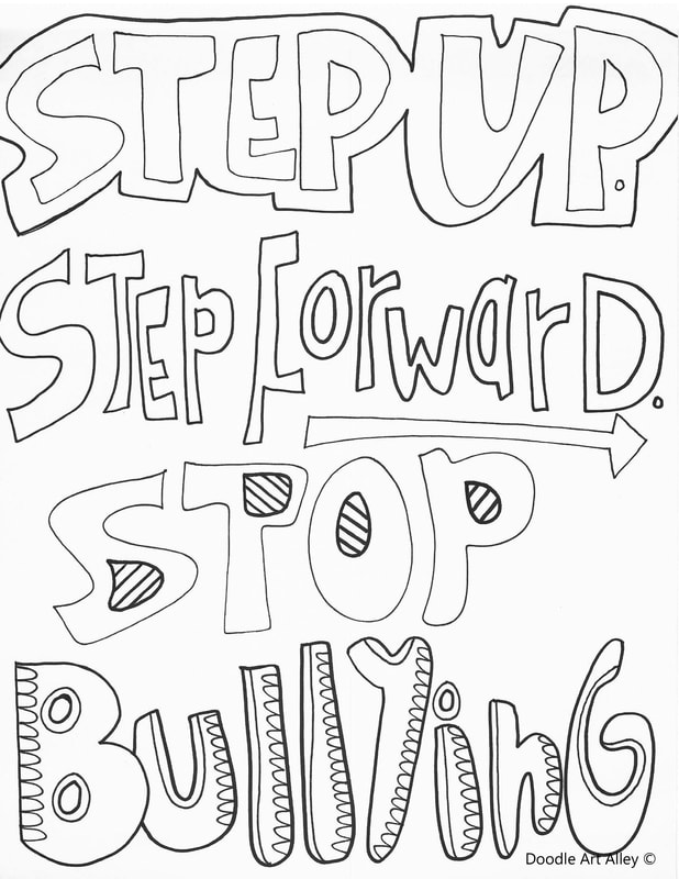 free stop bullying coloring pages | October Classroom Doodles - Classroom Doodles