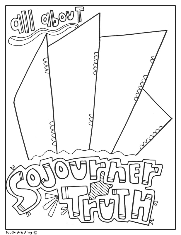 sojourner truth coloring pages