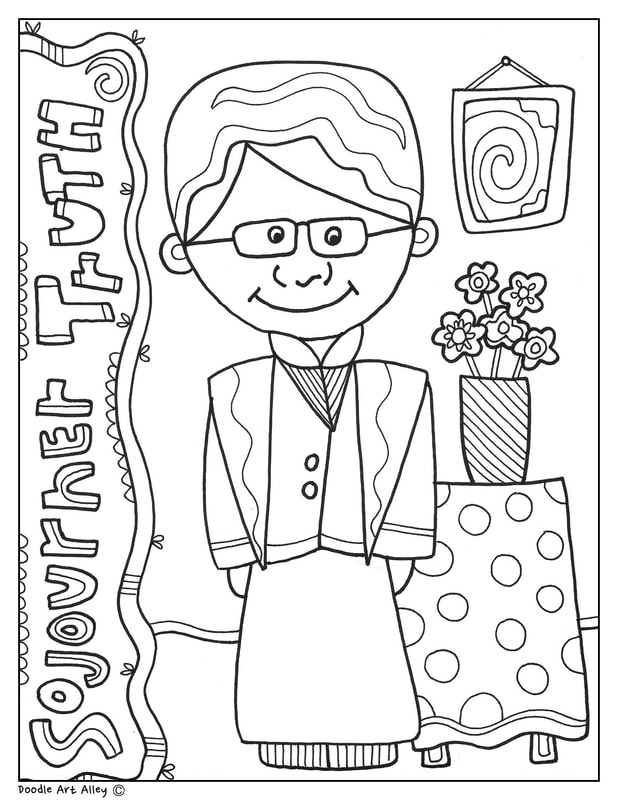 coloring pages for sojourner truth - photo#3