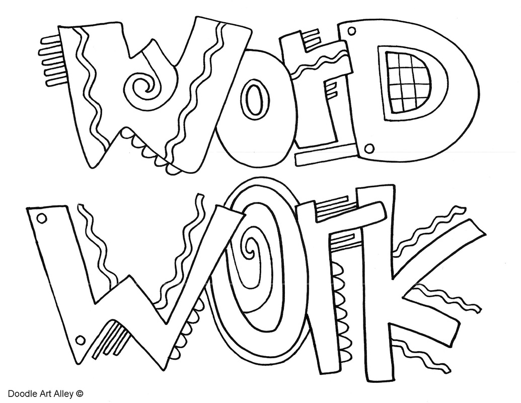 the daily five coloring pages
