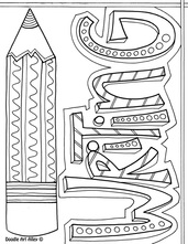 picture - Language Arts Coloring Pages