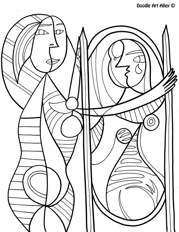Famous Art Work Coloring Pages Classroom Doodles