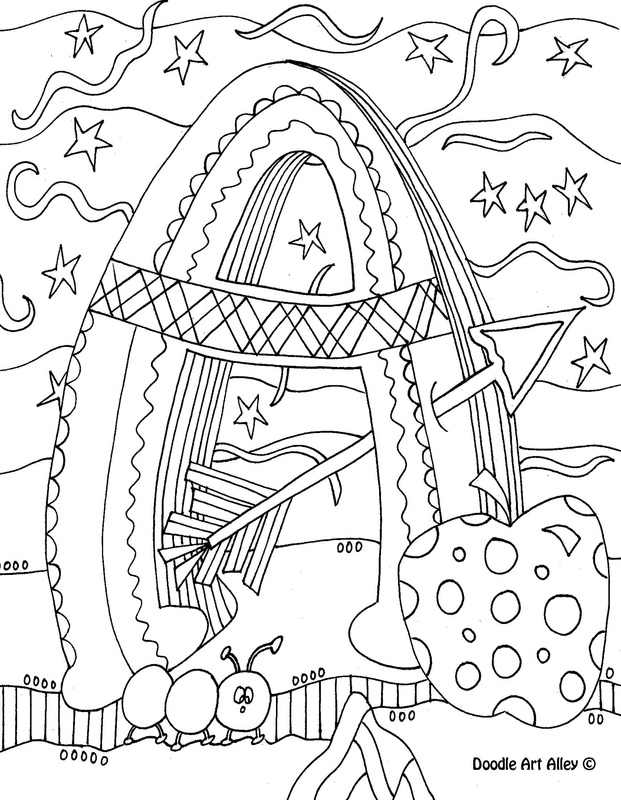 20+ Free Printable Doodle Art Coloring Pages for Adults ... | 800x621