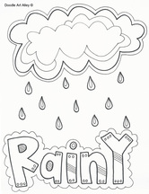 Weather Coloring Pages Classroom Doodles