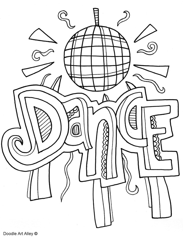 Doodle art alley school subject coloring pages coloring page for Doodle art alley coloring pages