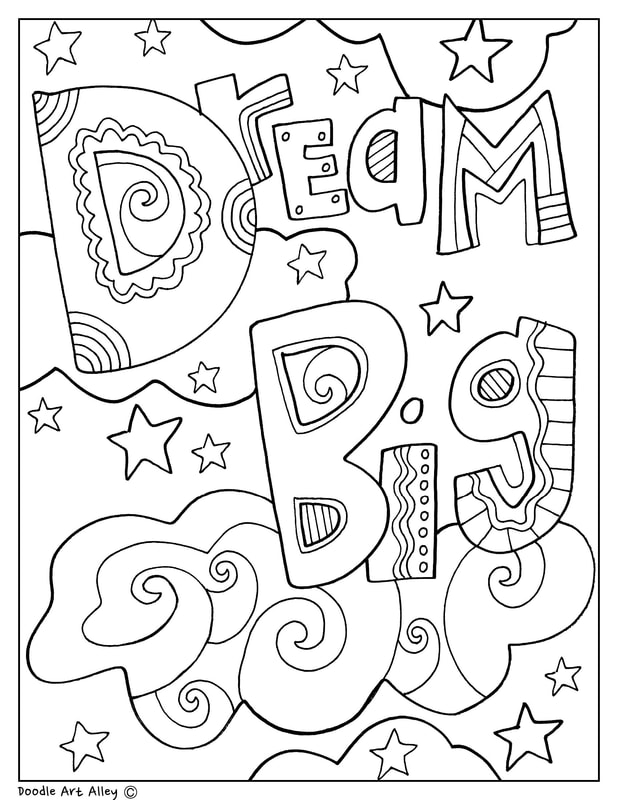- Educational Quotes Coloring Pages - Classroom Doodles