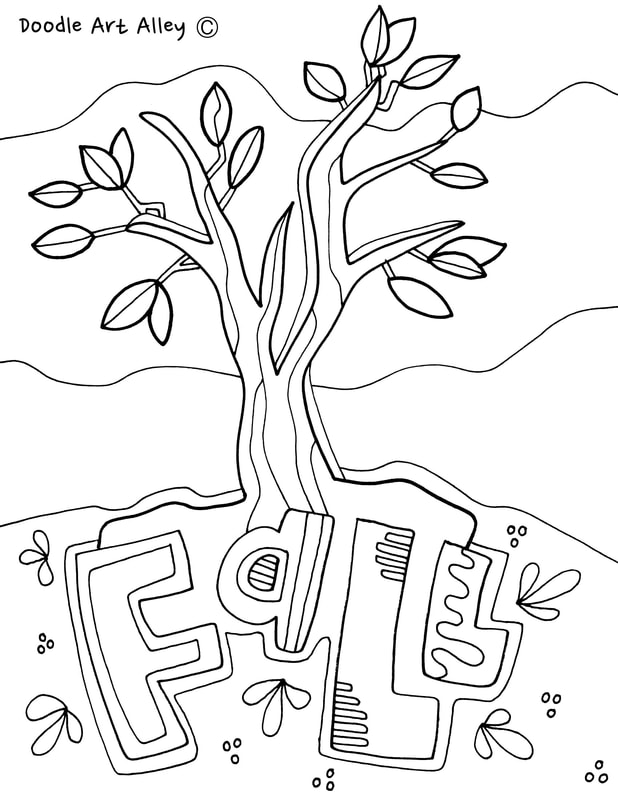 Fall Coloring Pages & Printables - Classroom Doodles