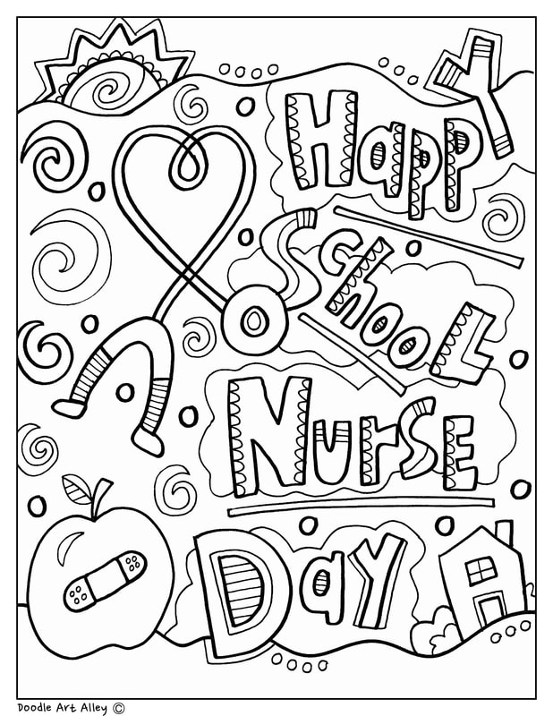 School Nurse Day Classroom Doodles