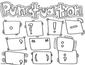 Punctuation Coloring Pages Classroom Doodles