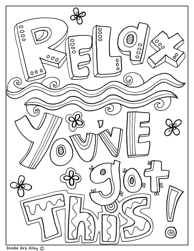 Testing Encouragement Classroom Doodles