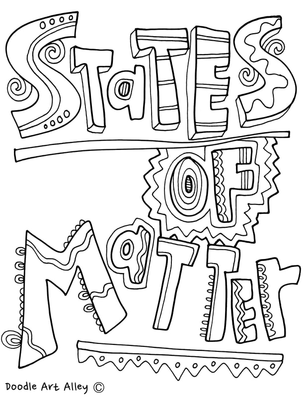 states of matter coloring page states of matter printables classroom doodles