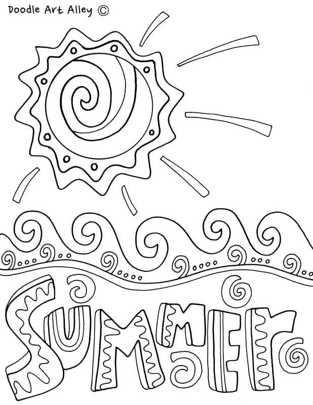 Summer Coloring Pages & Printables - Classroom Doodles
